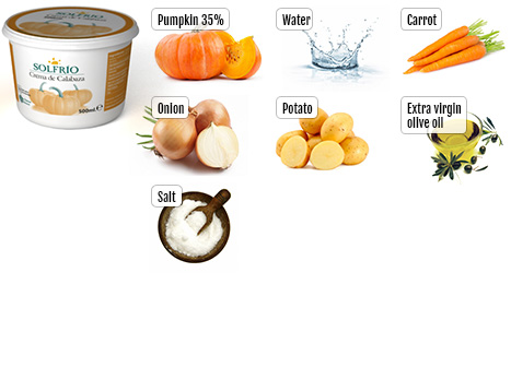 Ingredients of Solfrío Creamed Pumpkin