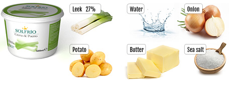 Ingredients of Solfrío Creamed leek